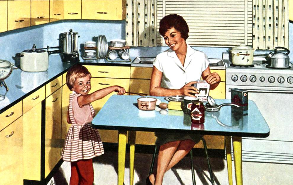 Delta constructions la cuisine travers les ges - Table cuisine formica annee 50 ...