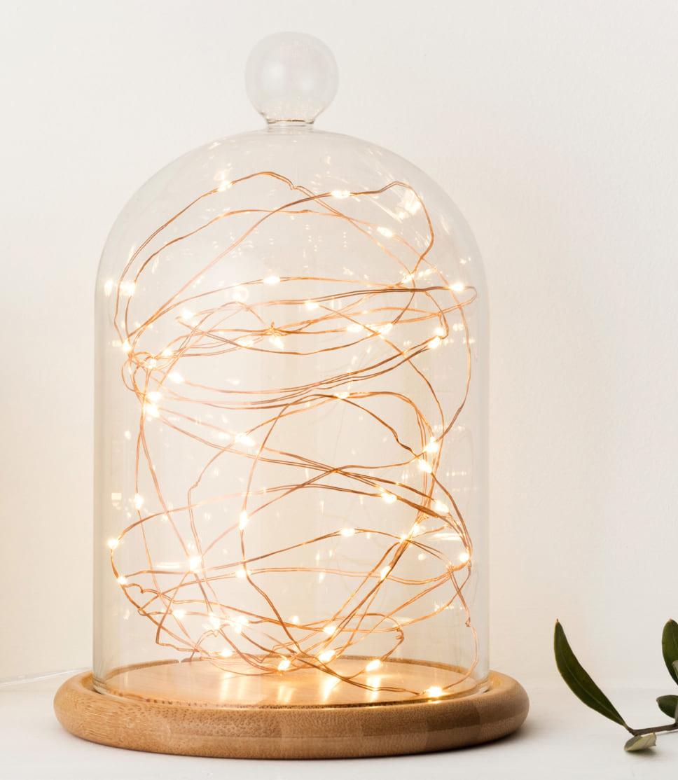 lucioles LED globe de verre éclairages contemporains