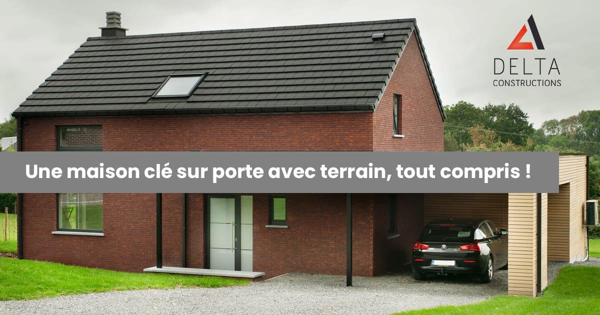 À vendre: maison clé sur porte avec terrain, tout compris !